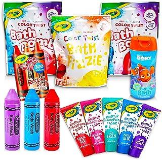 Crayola Bath Super Set -- 5 Crayola Bath Paint Soap Tubes, 5 Bath Pens, 3 Bubble Bath Tubes (13 Pc Set)