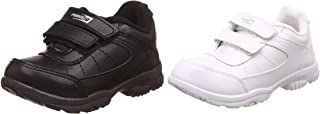 Force 10 (from Liberty) Unisex Black School Shoes Combo (Black + White)