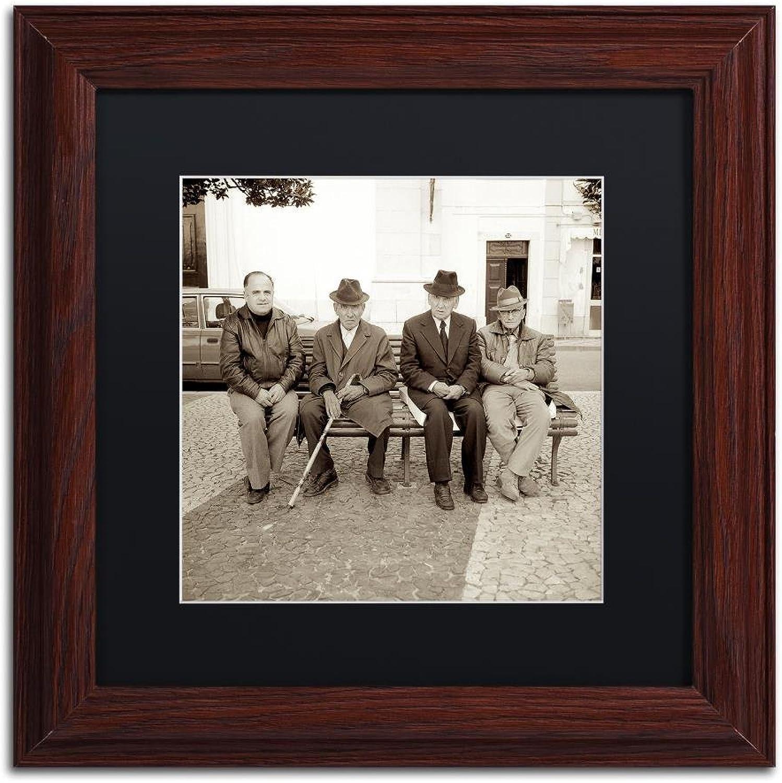 Trademark Fine Art Granada II by Alan bluestein, Black Matte, Wood Frame, 11  X 11