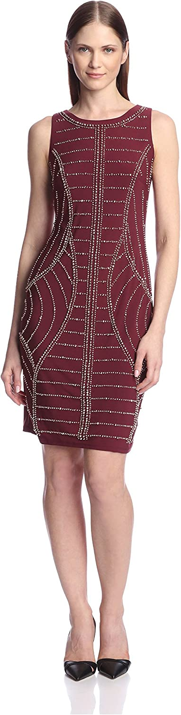 Chetta B Women's Beaded Sheath Dress