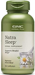 GNC Herbal Plus Natra Sleep, 100 Capsules, Supports Restful Sleep