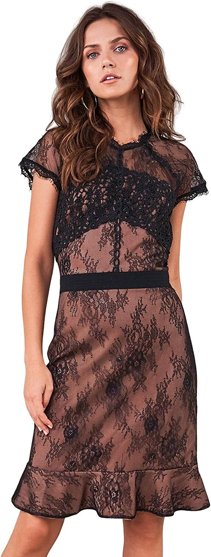 Sugar Lips Women's Icona Lace Inset Dress