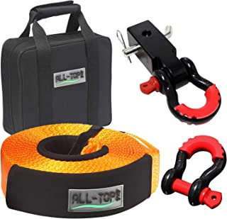 Blue Astra Depot Set 4pcs 1//4 UHMWPE Synthetic Winch Rope Extension with Stainless Steel Thimble Eyes on Both end