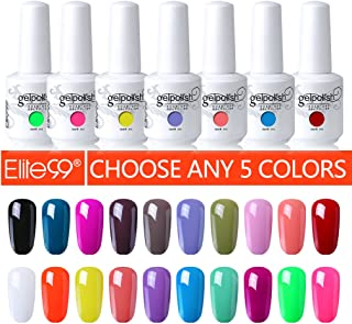 Elite99 Pick Any 5 Colors Soak Off Gel Nail Polish UV LED Color Nail Art Gift Set 241 Colors Available