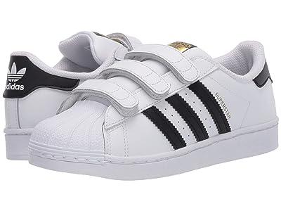 adidas Originals Kids Superstar CF (Little Kid) (Footwear White/Core Black/Footwear White) Kids Shoes