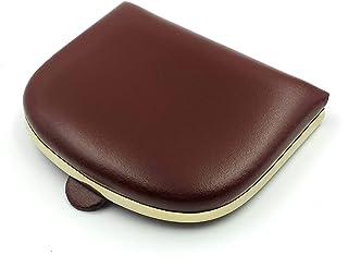 franartPiel - Monedero taconera de bolsillo con refuerzo de metal modelo plano pequeño Piel Ubrique - Alta Calidad (Marrón)