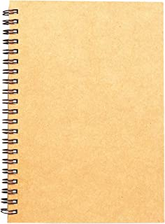 Spiral Sketch Book Kraft Cover Blank Sketch Pad Wirebound Sketching for Drawing Painting 8.5x11-Inch (1 Pack) 200 Pages, 100 Sheets