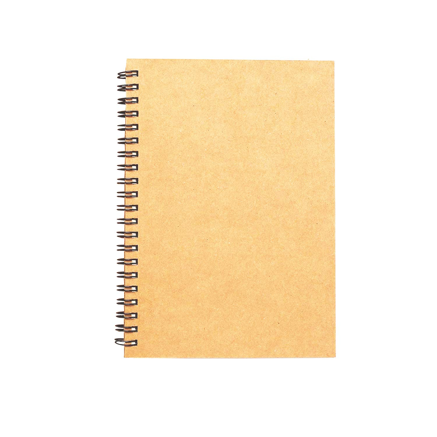 Spiral Sketch Book Kraft Cover Blank Sketch Pad Wirebound Sketching for Drawing Painting 8.5x11-Inch (1 Pack) 200 Pages/ 100 Sheets