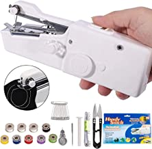 Handheld Sewing Machine - Mini Cordless Portable Electric Sewing Machine - Home Handy Stitch for Clothes Quick Repairing w...