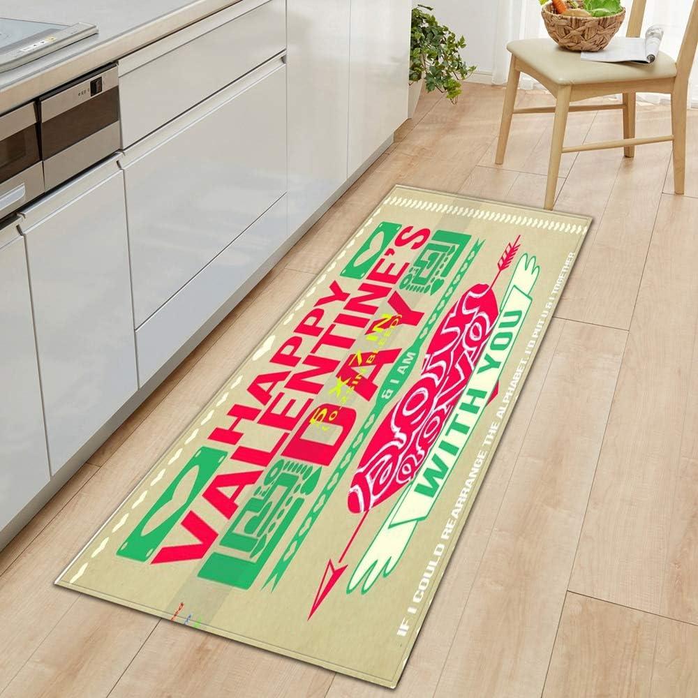 HLXX Alfombrilla Antideslizante para Cocina, Alfombrilla para Puerta de casa para Dormitorio, baño, impresión 3D, decoración del Suelo del hogar, Alfombra para Sala de Estar, A3 60x90cm