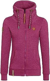135e230b46bb ShallGood Femmes Automne Hiver Sweats à Capuche Veste Mode Casual Manche  Longue Outerwear Oblique Zipper Manteau
