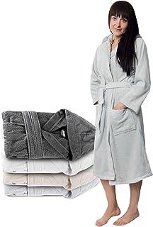 comprar comparacion Twinzen Albornoz de Baño para Mujer con Capucha - 100% Algodón Certificado Oeko Tex - Bata Baño Mujer 2 Bolsillos, Cinturó...