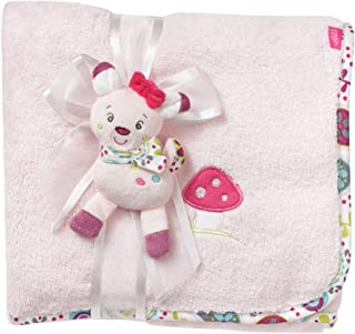 Fehn Fehn 076868 Kuscheldecke Rehkitz – Weiche Schmusedecke zum Kuscheln für Babys und Kleinkinder ab 0 Monaten – Maße: 100 x 75 cm