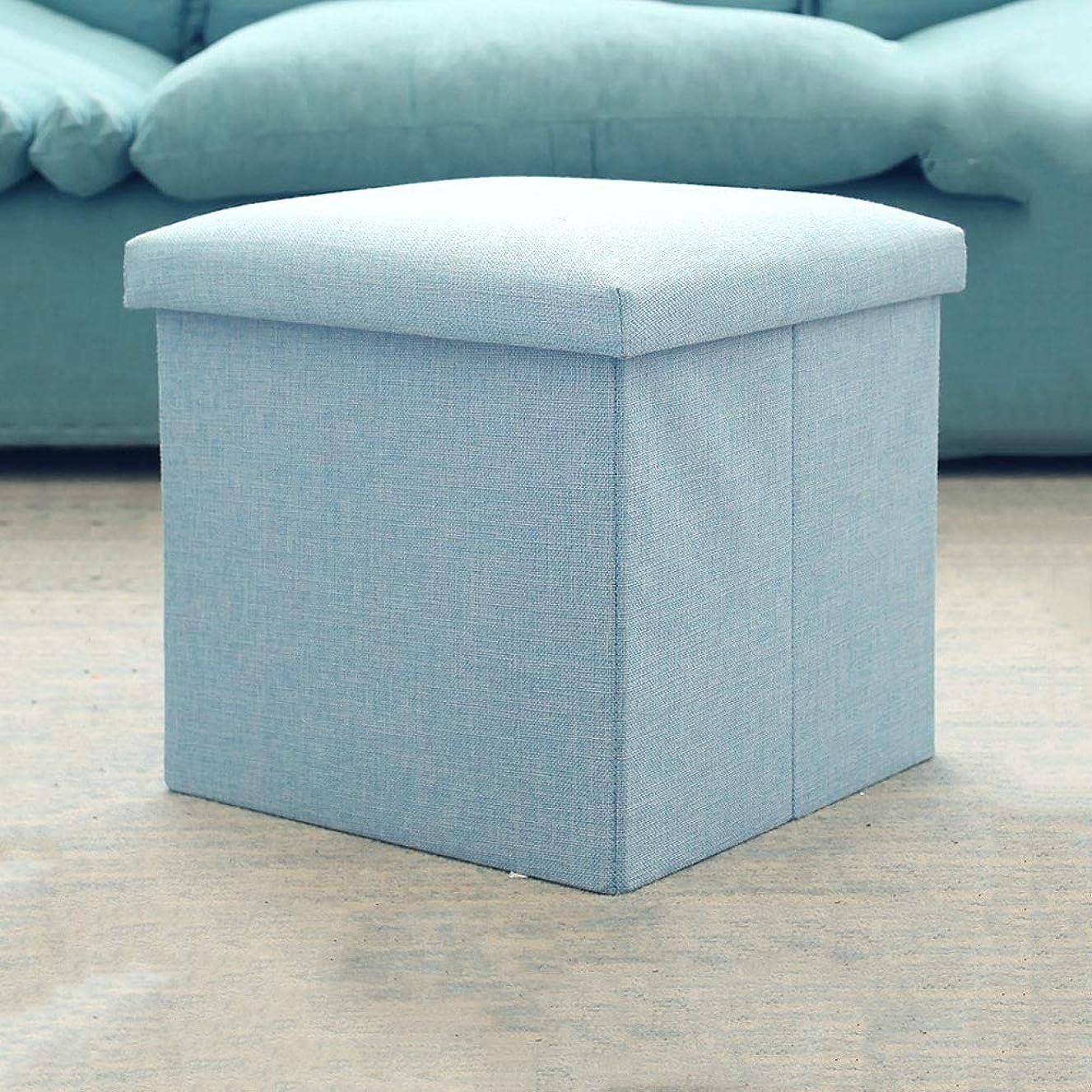 クリスチャン知覚的ブリッジCreative Square Storage Ottoman Cube Washable Foldable Foot Rest Stool Modern Home Living Room Adults Sofa Stool Chair Household Entrance Change Shoe Bench(色:ベージュ)