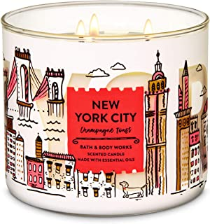 Bath & Body Works 3 Wick Candle, New York City Champagne Toast