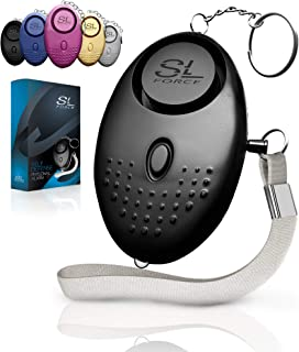 SLFORCE Personal Alarm Siren Song - 130dB Safesound Personal Alarms for Women Keychain with LED Light, Emergency Self Defense for Kids and Elderly. Security Safe Sound Whistle Safety Siren