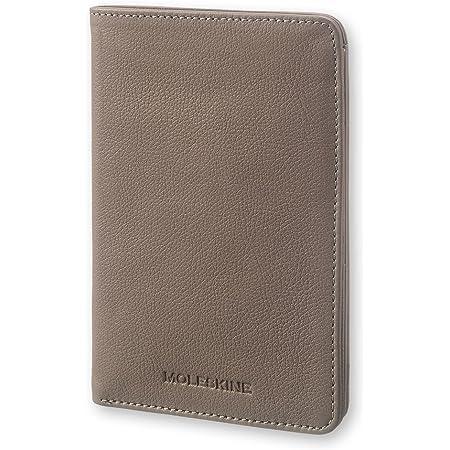 Moleskine Lineage–Porta passaporto in pelle, colore: Talpa