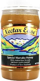 Bee Zesty Nectar Ease, Manuka Honey 500g Genuine New Zealand non-GMO, BPA Free Jar - 100% guaranteed
