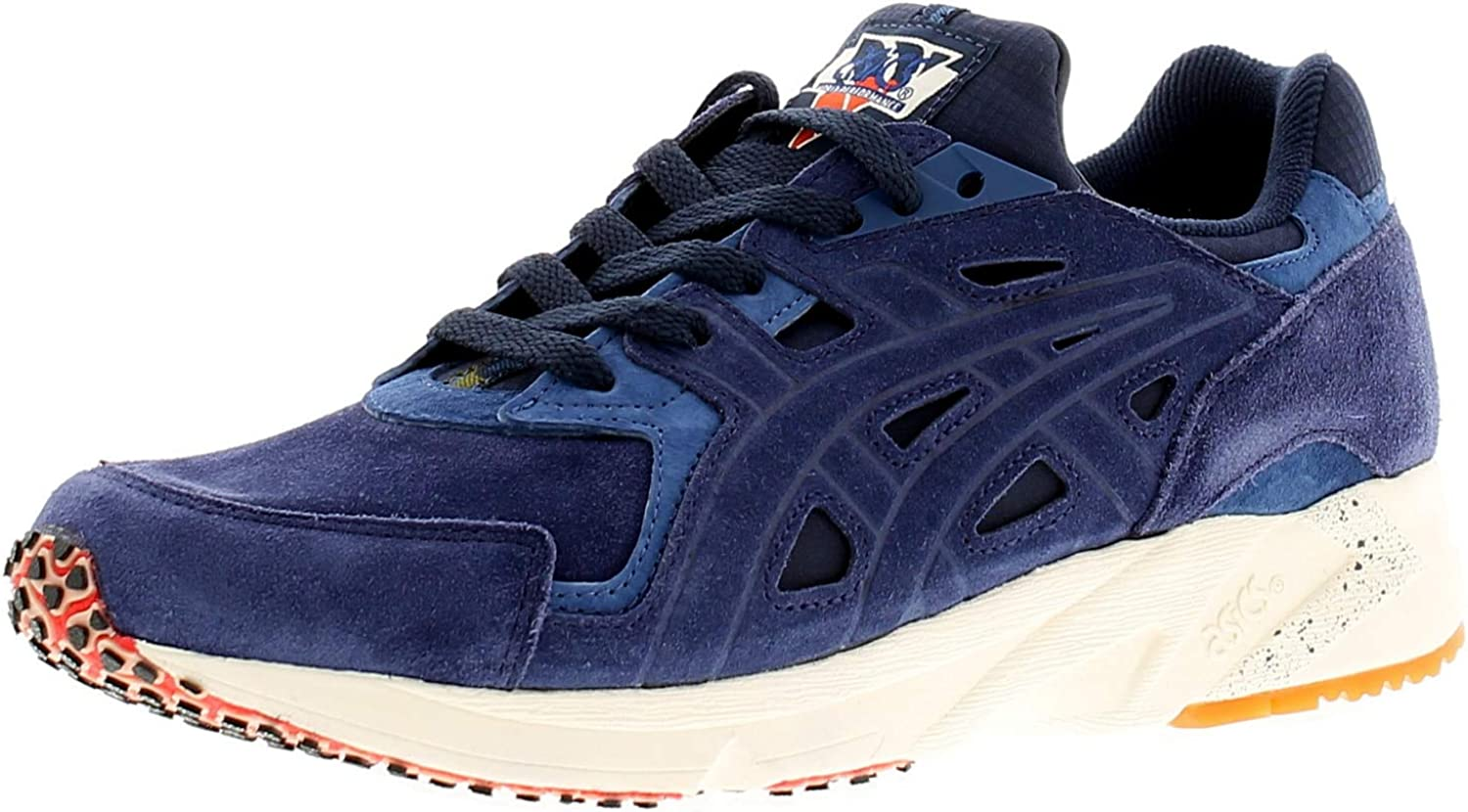 ASICS Gel Ds Trainer Mens Suede Leather Material Trainers Navy