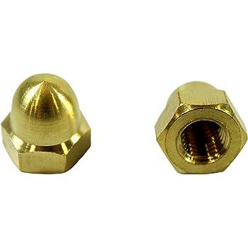 Din 1587 Pack x 10 Gold Aluminium Dome Nut M6