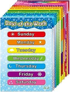 پوسترهای آموزشی برای کودکان و نوجوانان یادگیری حروف الفبای کودکان شماره اشکال رنگ جدول پوستر چند لایه مجموعه 15 بسته