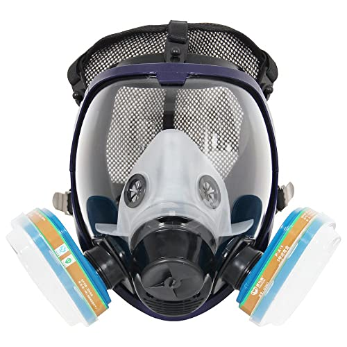 Careful Full Face Mask For 6800 Gas Mask Full Face Facepiece Respirator For Painting Spraying Free Shipping Festive & Party Supplies