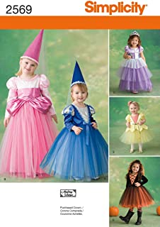 Simplicity Sewing Pattern 2569 Toddler and Child Costumes, AA (1/2-1-2-3)