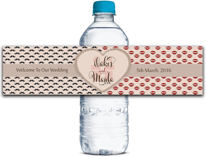 Personalisierte Wasserflasche Etiketten Selbstklebende wasserdichte Kundenspezifische Hochzeits-Aufkleber 8    x 2  Zoll - 50 Etiketten B01A0W651K    Deutschland Online Shop  bf45e8