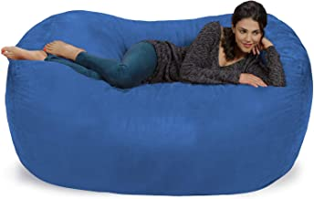 Extra Large 6' Fuf Comfort Suede Bean Bag Cover by Ink Craft (6 feet, Blue)