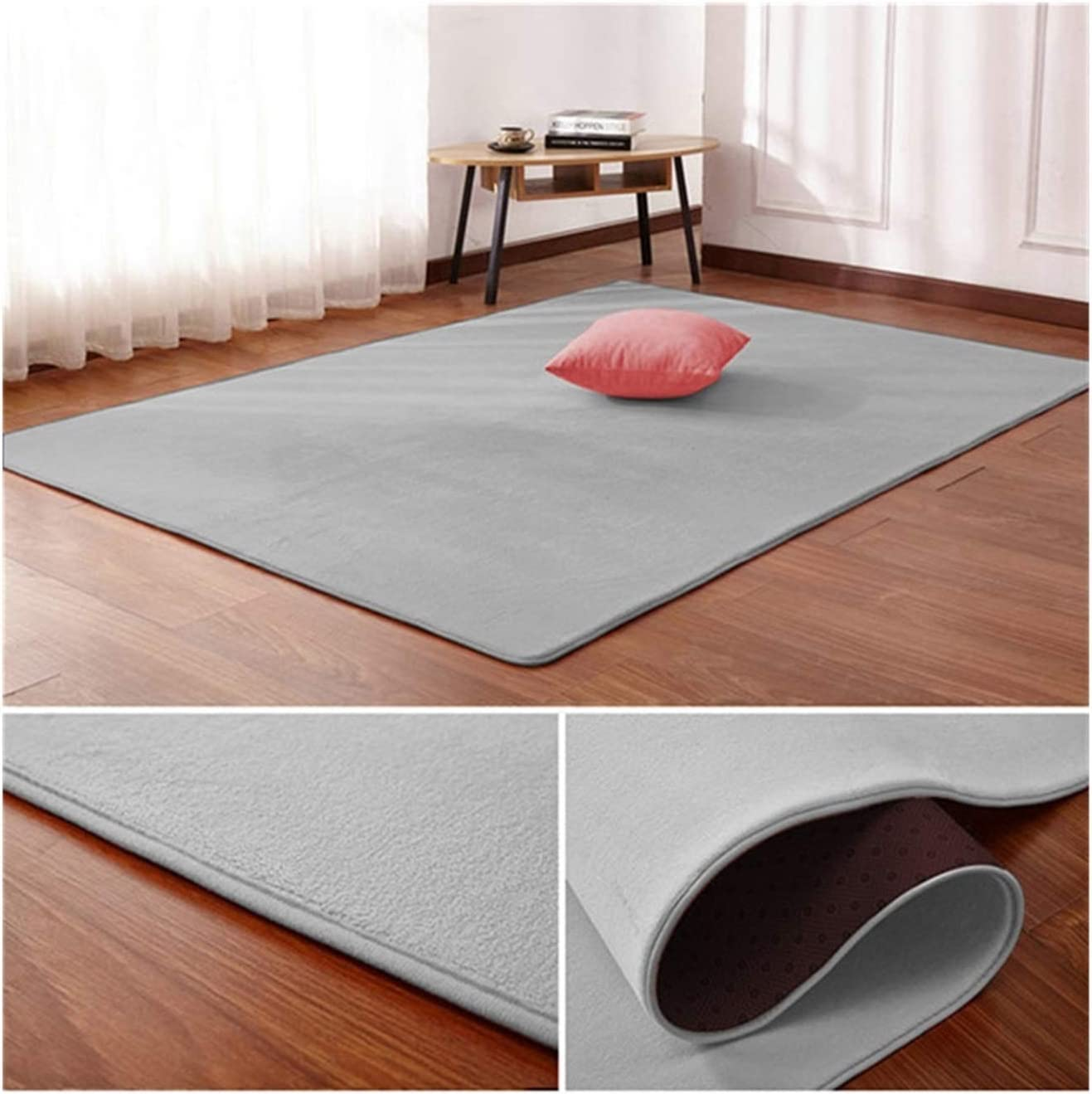 WAZG SYBLD Sale SALE% Ranking TOP7 OFF Nordic Coral Velvet Carpet Bedr Floor Room Living Mat