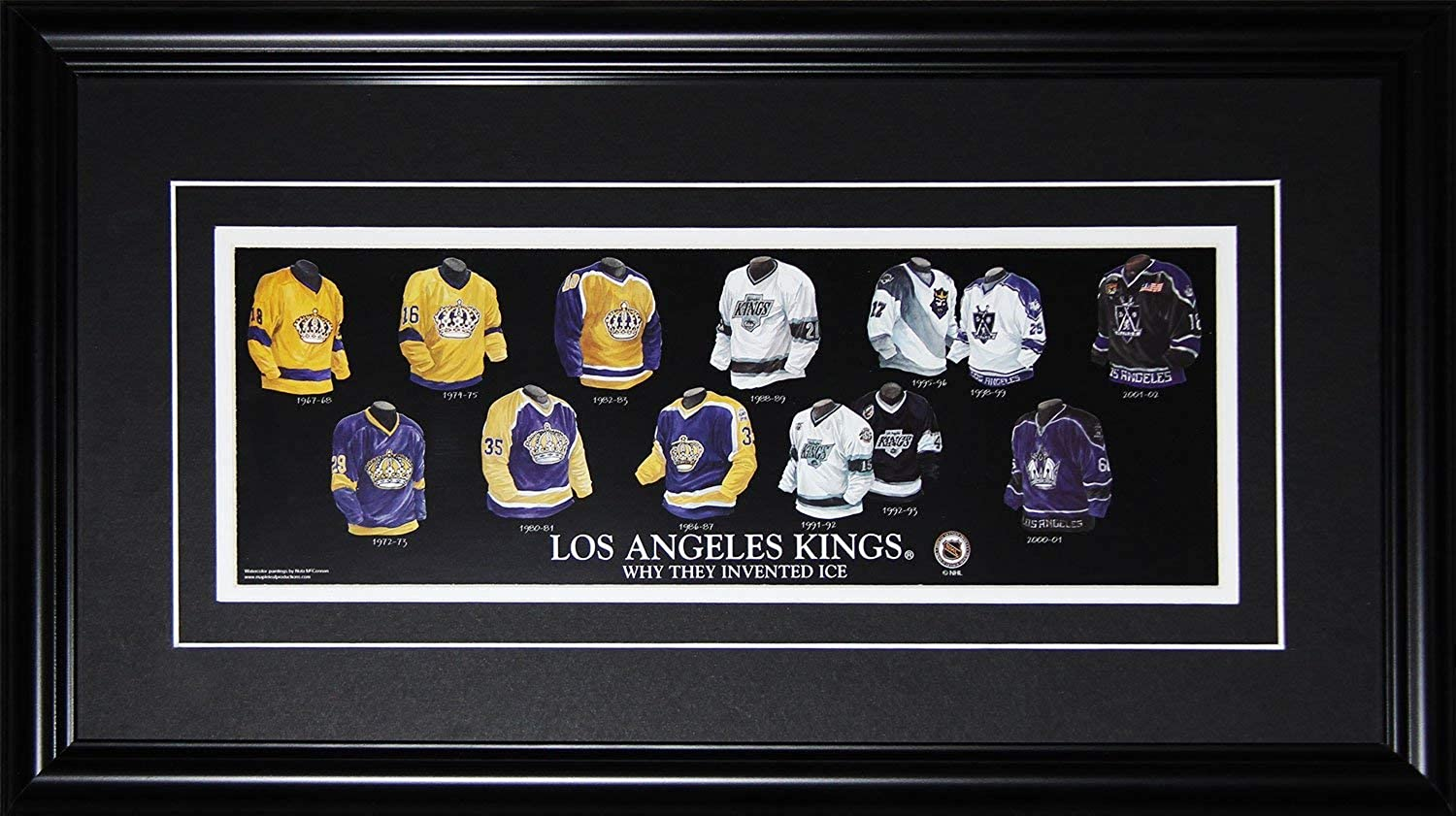 Los Angeles Kings Hockey Jersey Evolution NHL Hockey Memorabilia Collector Frame