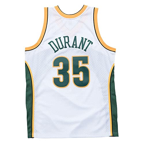Kevin Durant Seattle Supersonics Mitchell   Ness NBA Throwback Jersey White 6faf3d55a