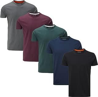 Charles Wilson Men's 5 Pack Plain Crew Neck T-Shirt