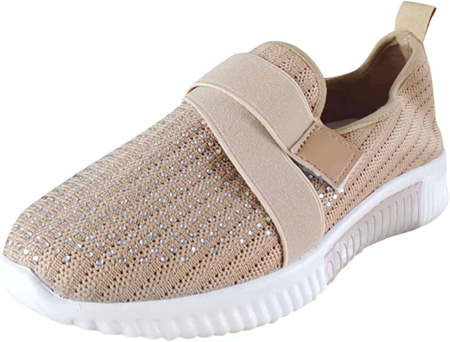 Qisemi Sneakers for Women, Womens Casual Shoes Breathable Lace U