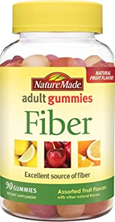 Nature Made Adult Gummies Fiber, 90 Count Pack of 2
