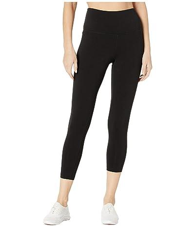 Jockey Active Cotton/Spandex Basics Capris (Deep Black) Women