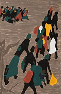 Berkin Arts Jacob Lawrence Giclee Canvas Print Paintings Poster Reproduction(The Migration gained in Momentum)