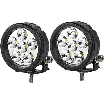 lightronic 18W Round LED Light 3.5 Inch Off Road Round LED Work Light Back Up Lights
