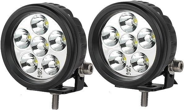 2X 20W LED White Car Truck SUV Off Road Driving Spot Beam Light Bar Lamp 6000k