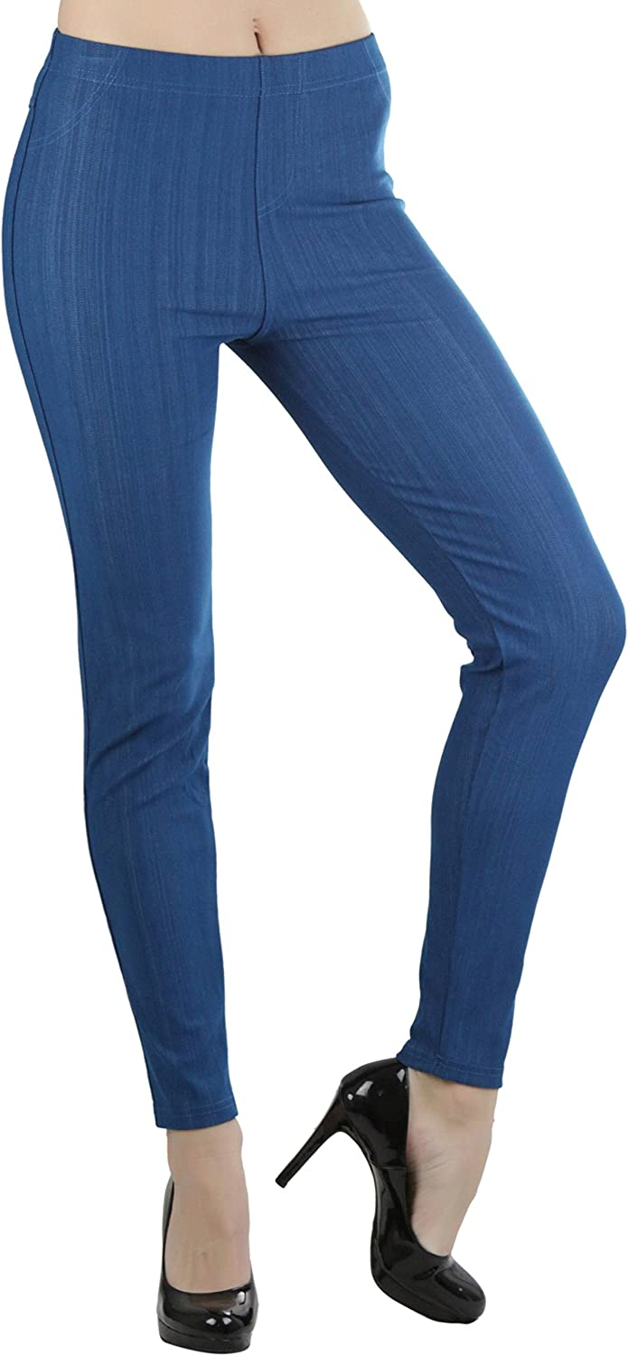 ToBeInStyle Women's Stretchy Cotton-Blend Jean Leggings