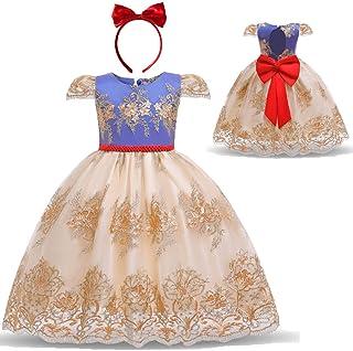 فساتين للفتيات الصغيرات المزينة بالزهور لحفلات أعياد الميلاد وحفلات الزفاف - مطرزة بالدانتيل