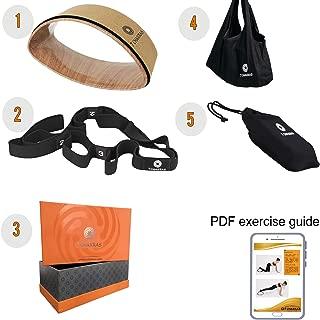 7 Chakras Yoga Stretching Strap Set + Optional Yoga Wheel Set   Travel Bag   Exercise Stretching Guide (Printed Or PDF)   Yoga Gifts