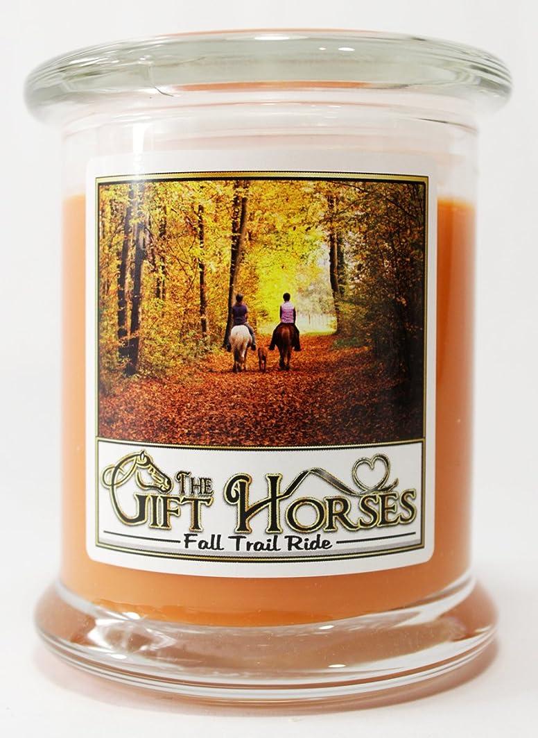 競合他社選手要件マトンすべての自然大豆ワックスScented Candle?–?クリーン燃焼、長持ち、パラフィンフリー( 12オンス、Fall Trail Ride )