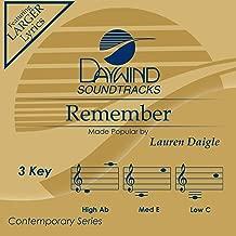 Remember Accompaniment/Performance Track
