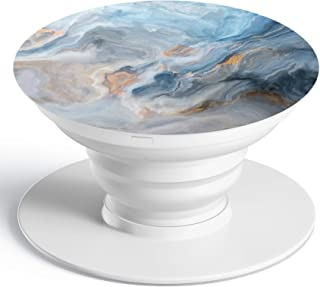 Pop Out Socket Collapsible Phone Grip Stand & Mount Holder for Smart Phones Mobile and Tablets - BLUE MAGIC MARBLE