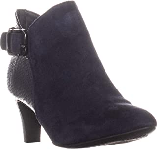 Alfani A35 Valmontt Zip Up Heeled Ankle Boots, Ink Blue US