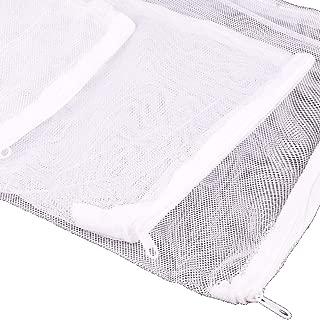 Aquarium Filter Media Net Bag Fine Mesh Bag with Plastic Zipper for Bio Balls Activated Carbon Ceramic Rings 10 PCS