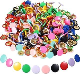 Push Pins, 300Pcs Colorful Round Thumb Tacks Drawing Pins for Wall Map, Photos, Bulletin and Cork Boards