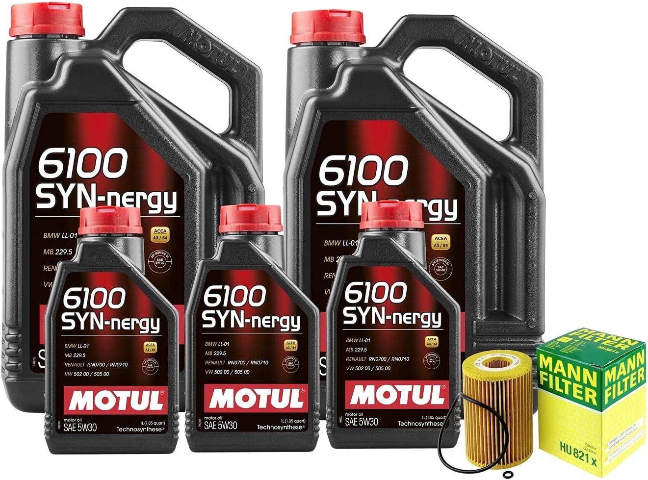 13L Ranking TOP10 6100 New item SYN-NERGY 5W30 Filter Motor T 3500 3.0 kit Oil Sprinter