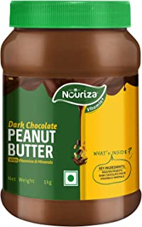 Nouriza Dark Chocolate Peanut Butter with Added Vitamin & Minerals, 1 kg